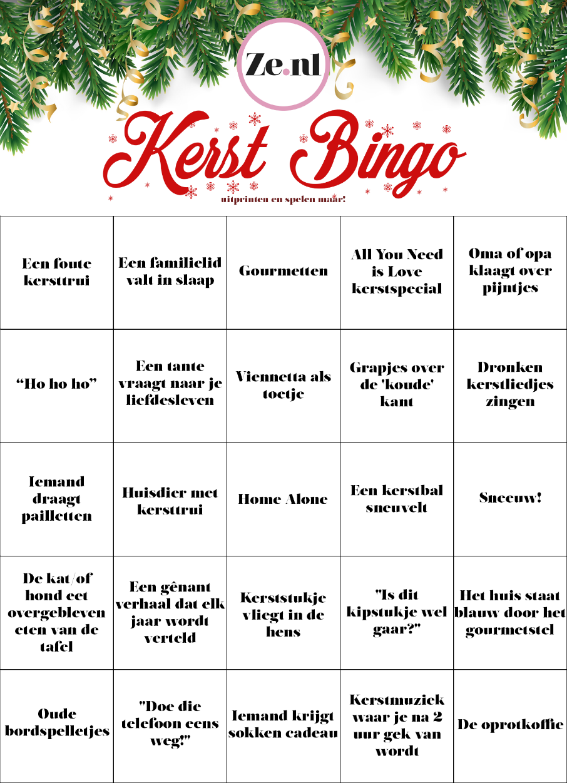 Hoe Cliche Is Jouw Kerst Doe Ze S Kerst Bingo