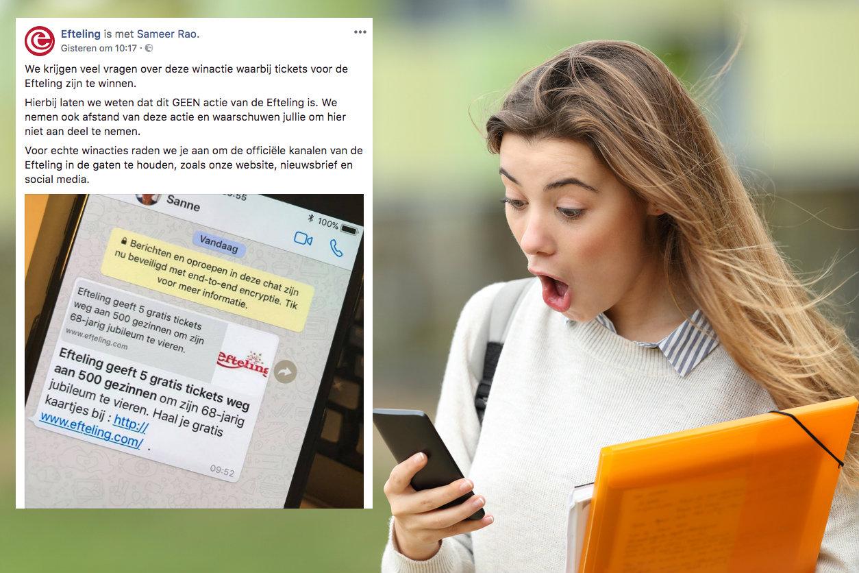 Let Op Gevaarlijk Efteling Whatsapp Bericht In De Omloop