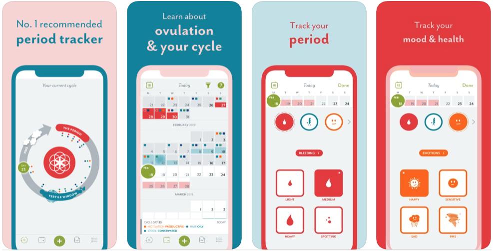 menstruatie apps