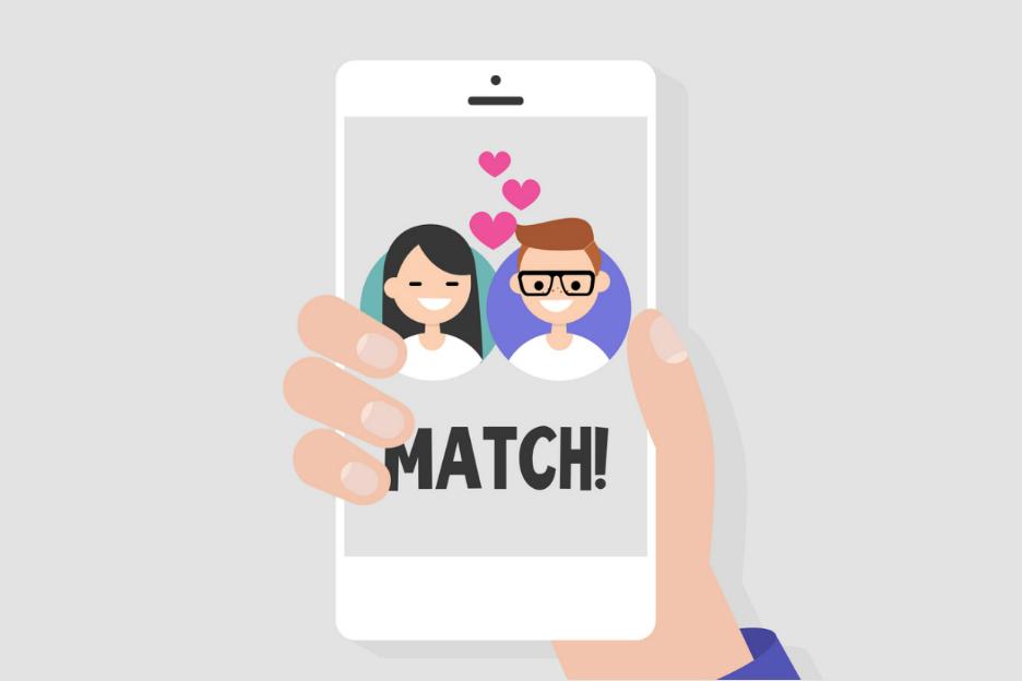 Dating app Swipe links rechts