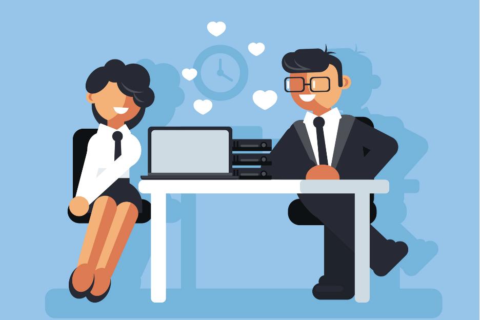 Flirten op de werkvloer